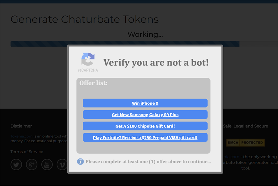 Verify chaturbate
